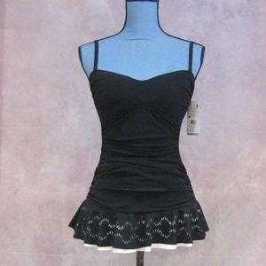 NEW Profile by Gottex Laser Cut Lace Swim Suit 8